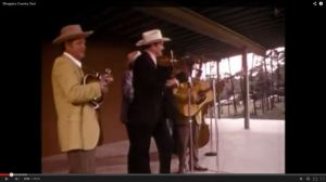 Camp Springs stage in 1970, still from Bluegrass Music, Country Soul with Lilly Brothers and Tex Logan