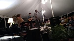 Chuck Neblett leading us in song