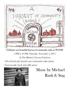 WCOM Fundraiser November 5